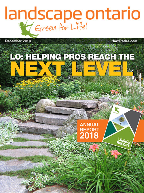 Cover of Landscape Ontario magazine July 2018