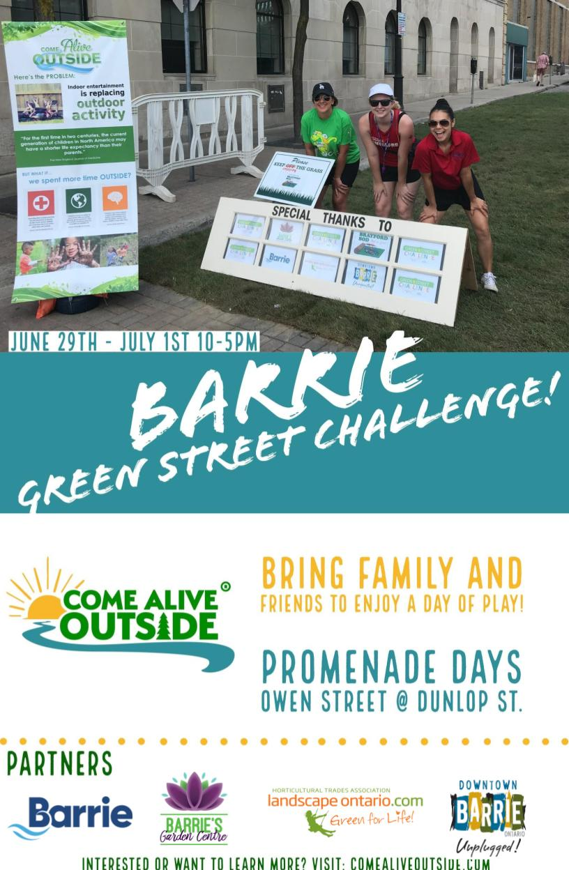 Green Street Challenge Barrie flyer