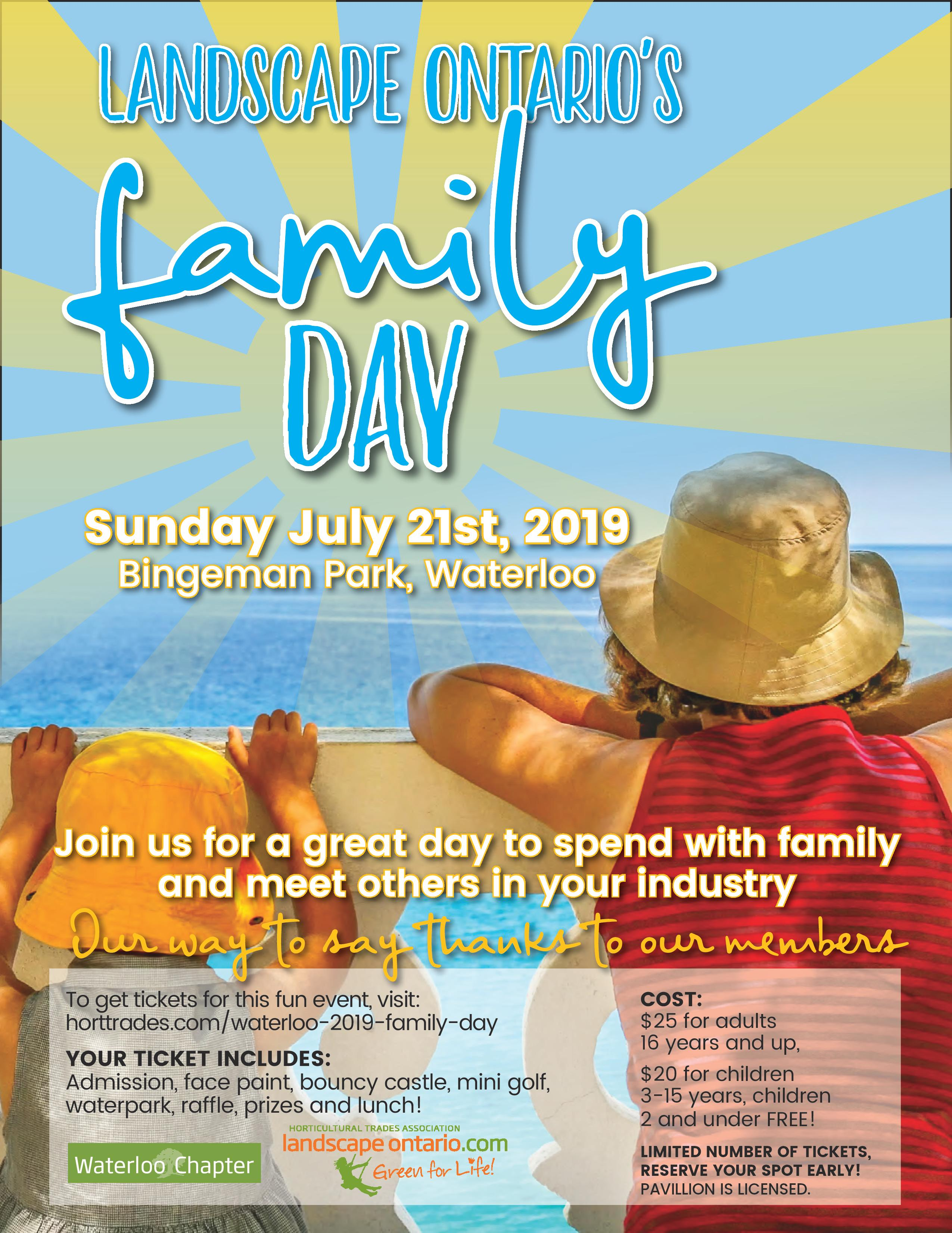 flyer for family day event
