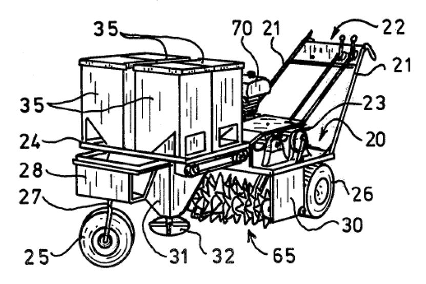 drawing diagram of a machine for patent